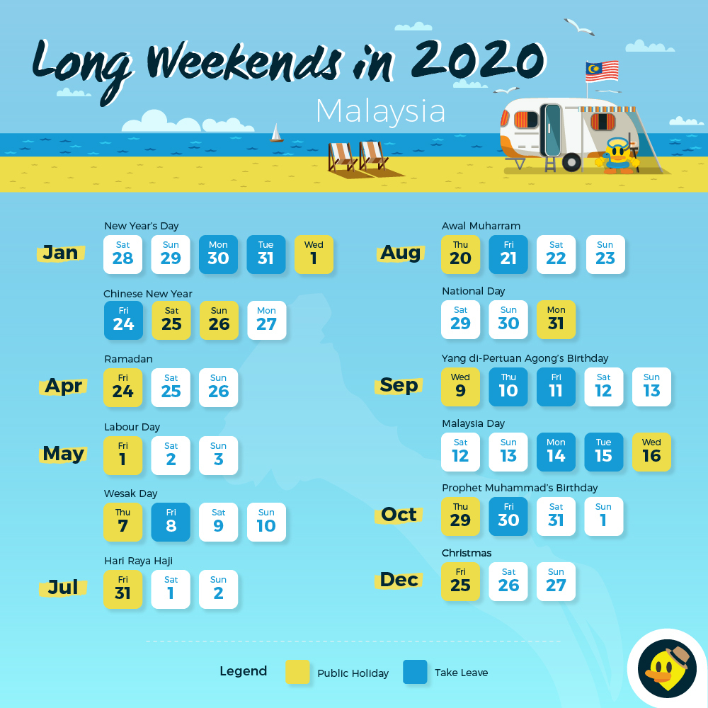 12 Long Weekends In 2019 For Malaysians © Letsgoholiday.my