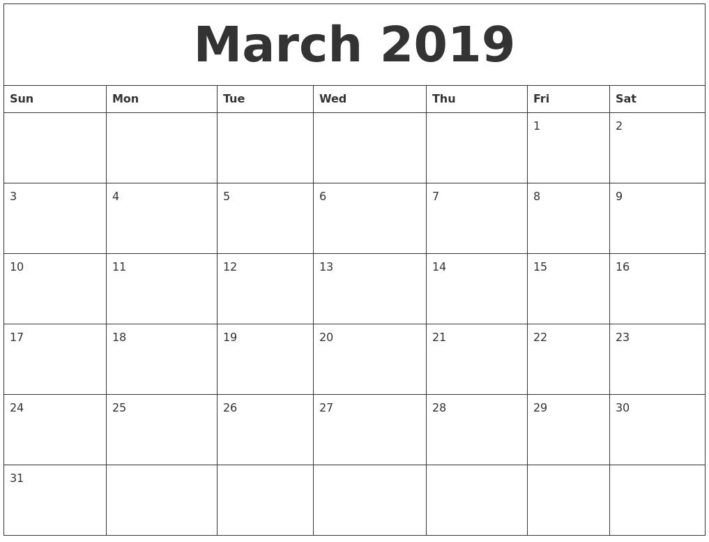 150+ April 2019 Calendar