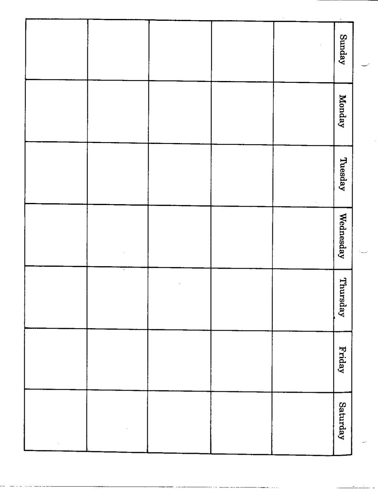 2 Page Monthly Calendar Blank