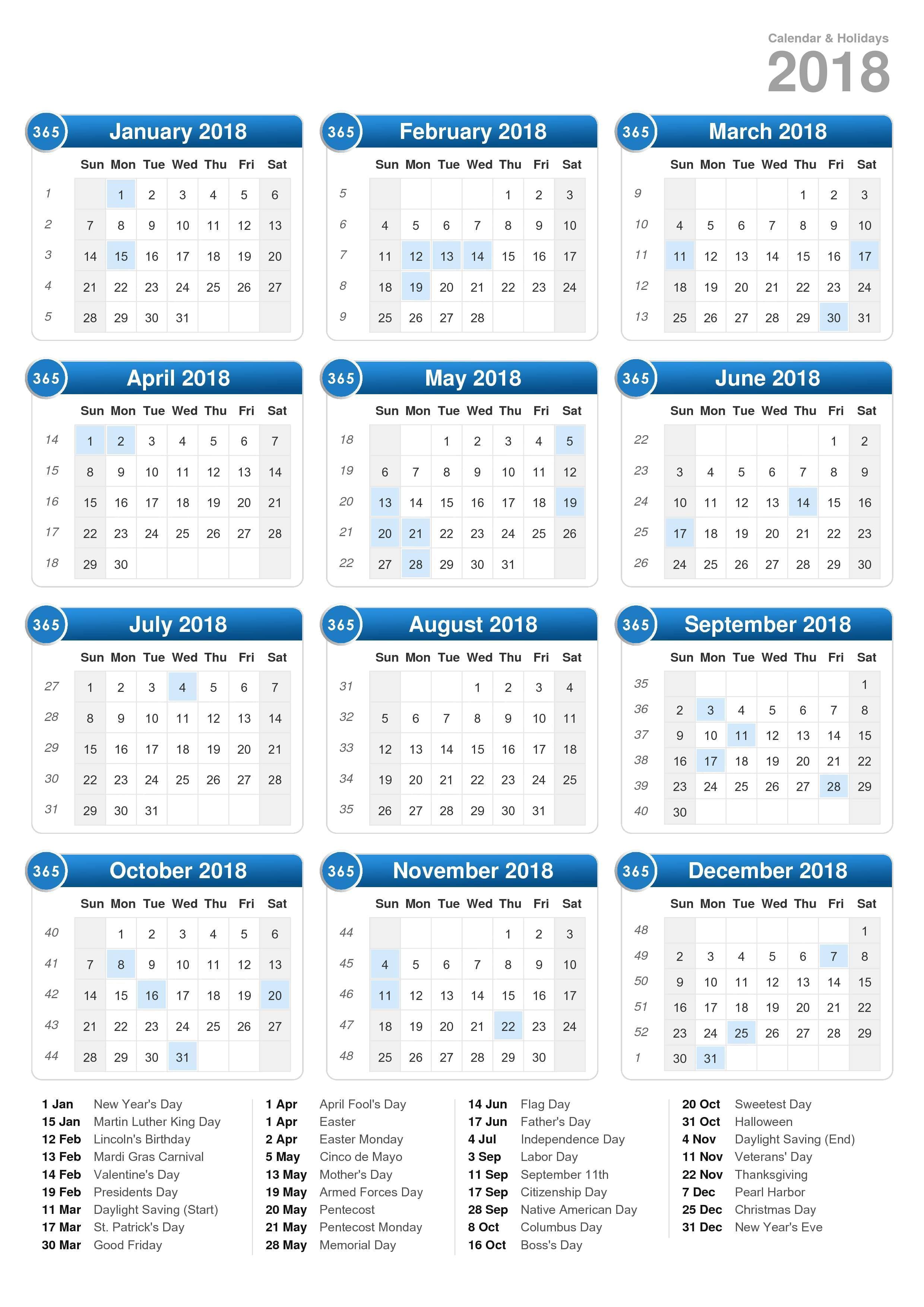 2018 2020 19 2018 Broadcast Calendar