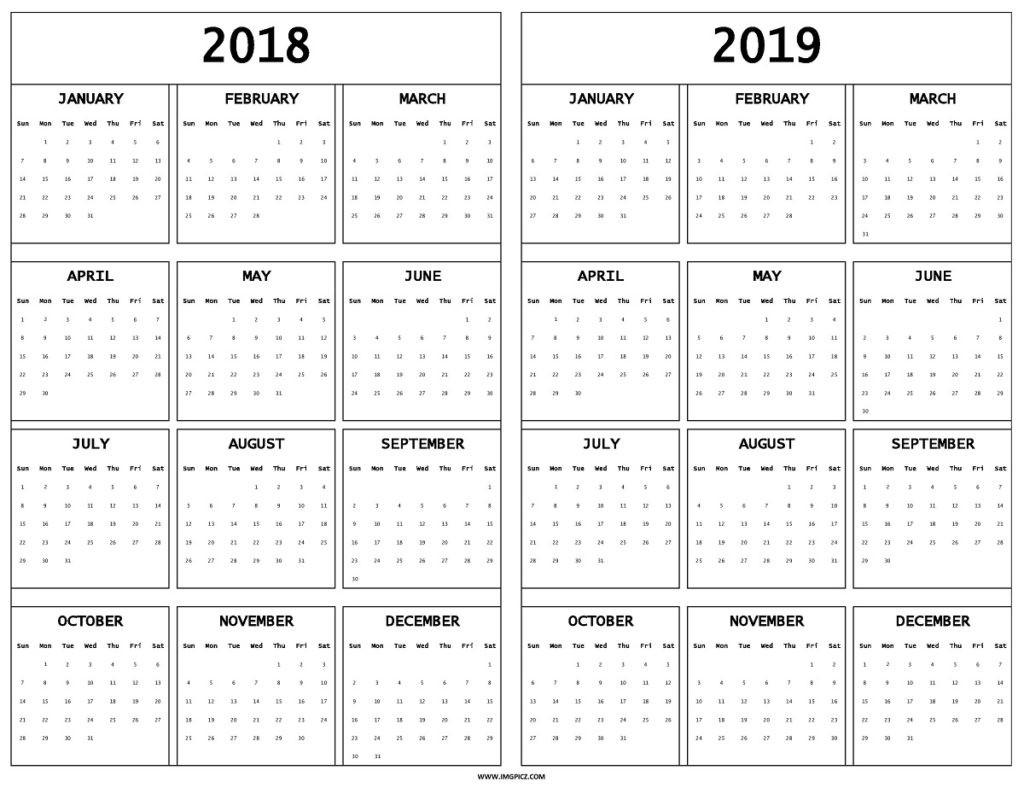 2019 Calendar Nz