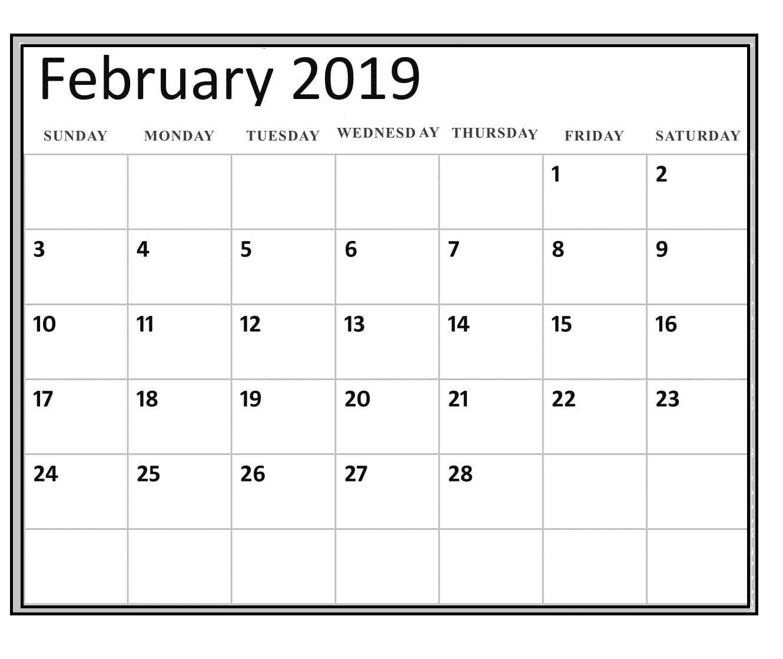 2019 February Blank