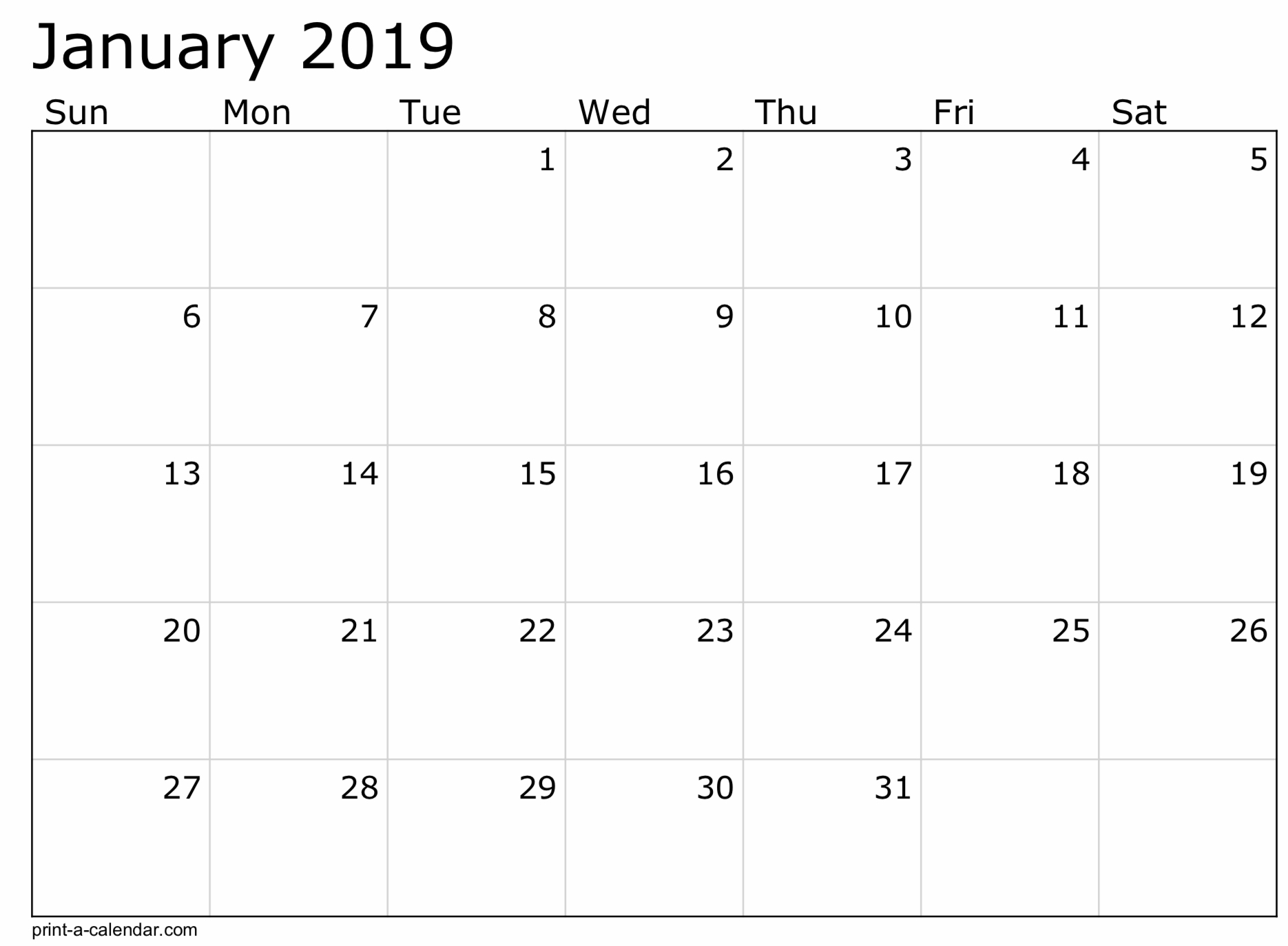 2019 Free Printable Calendar Templates - A Mother's Random Thoughts