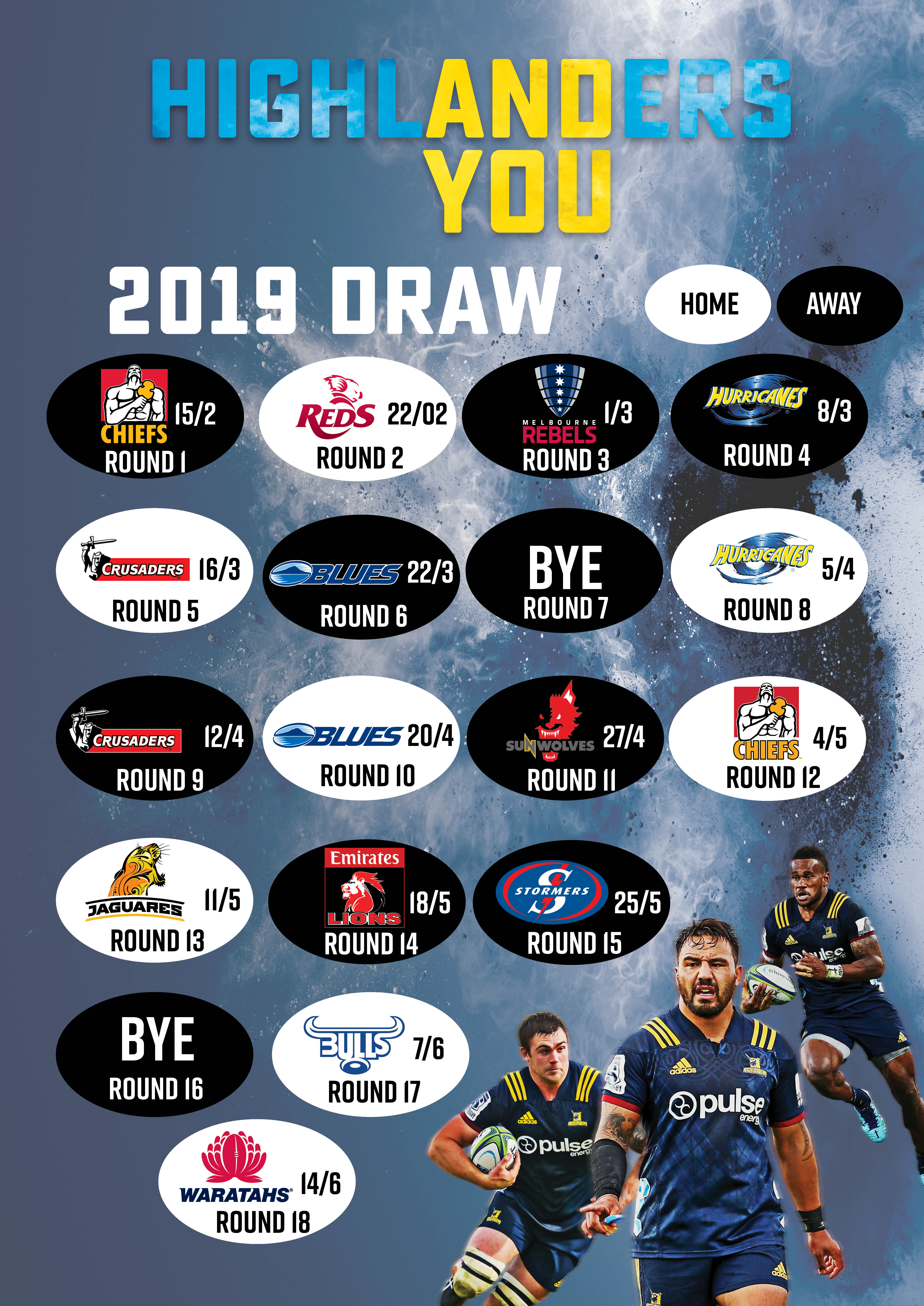 2019 Investec Super Rugby Draw Announced