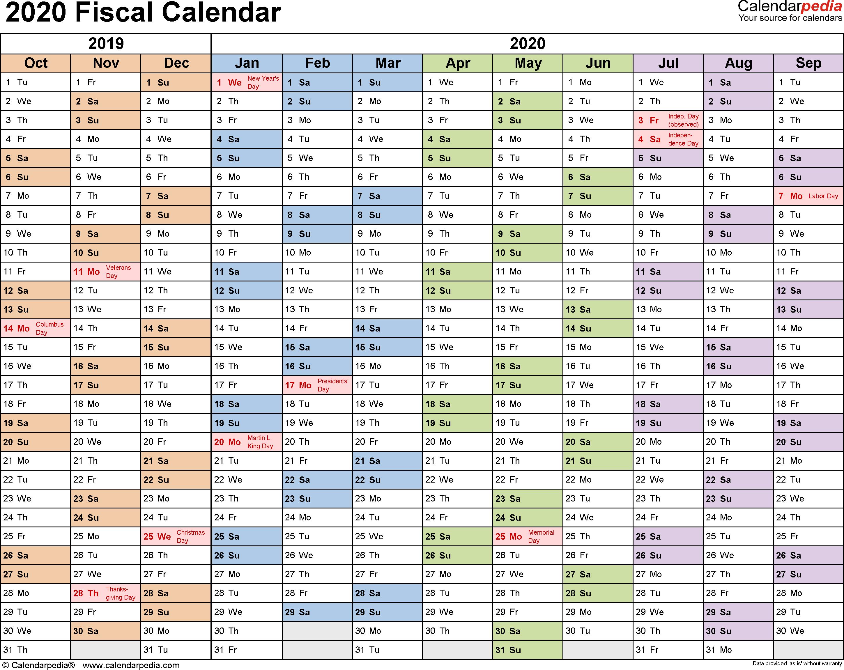 2020 Calendar Australia Excel