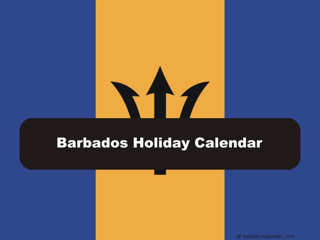2020 Calendar Barbados