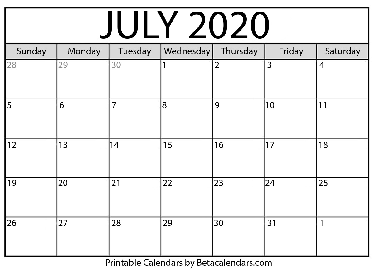 2020 Calendar Bc