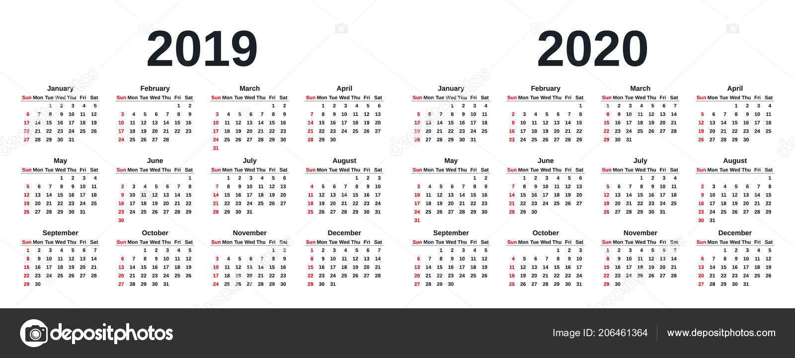 2020 Calendar By Week