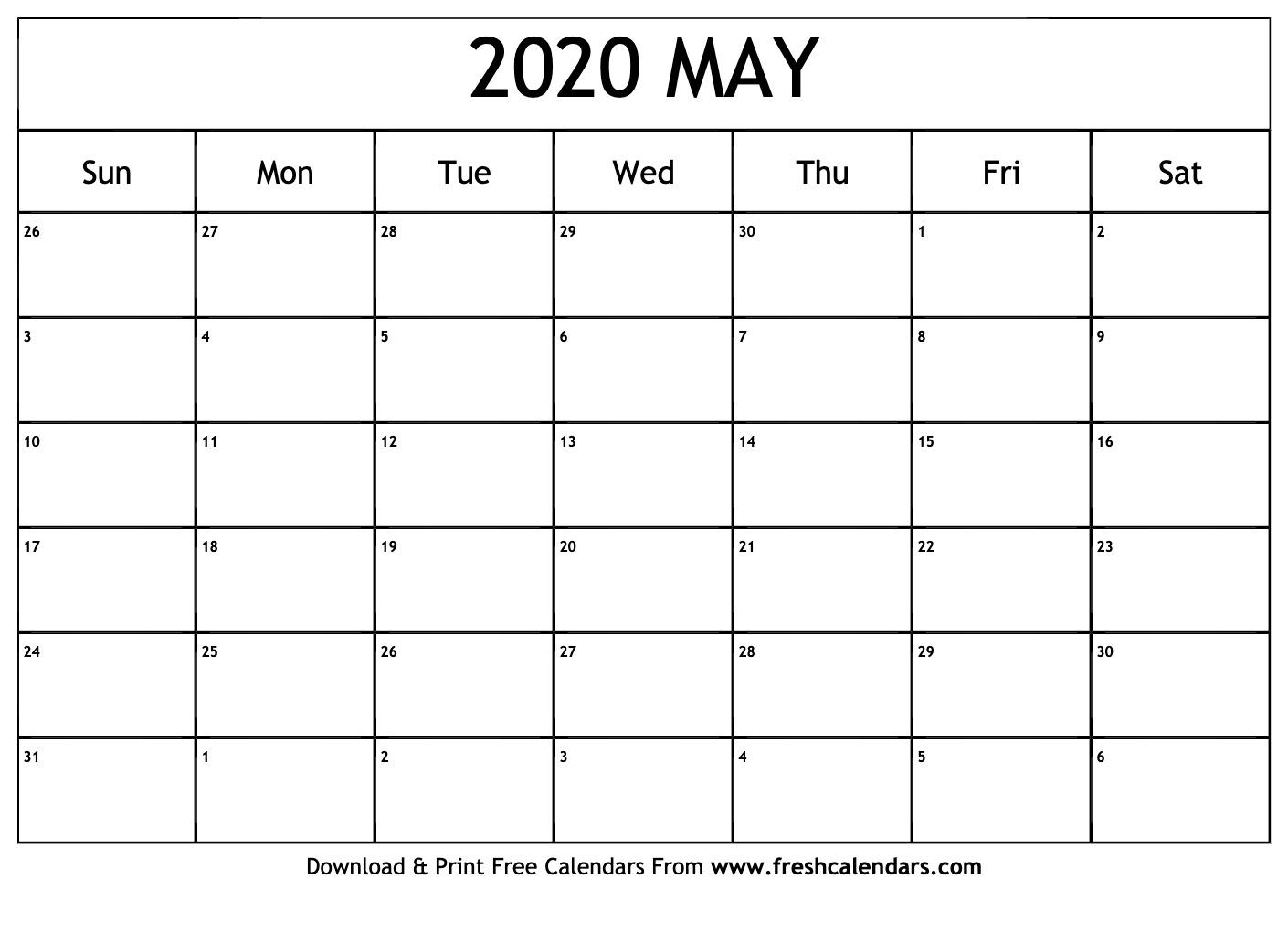 2020 Calendar Editable