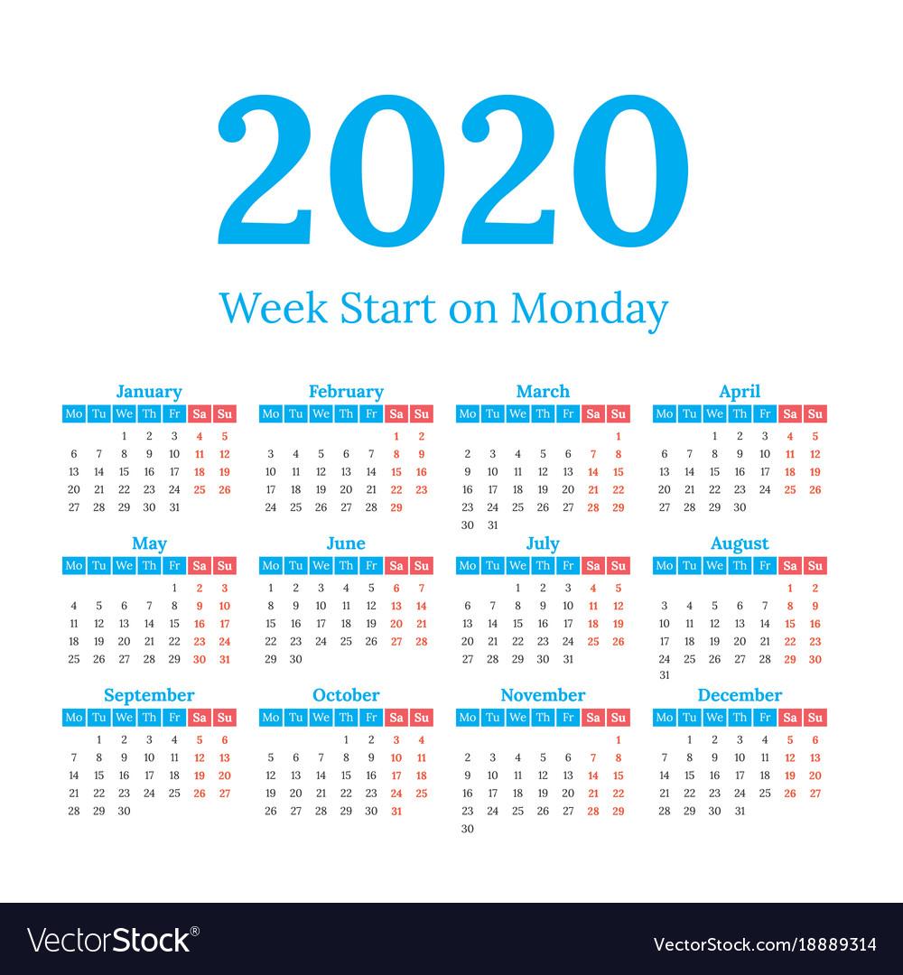 2020 Calendar Images