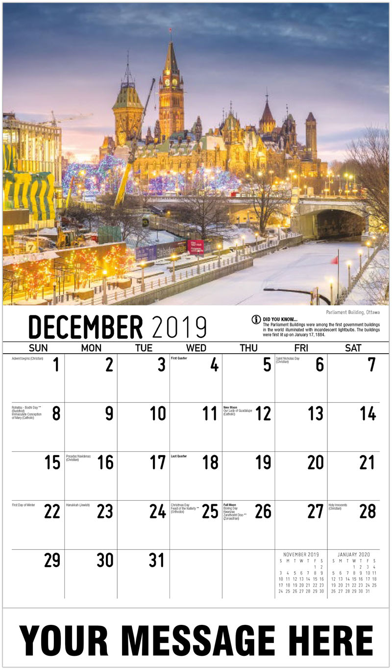2020 Calendar Ontario Canada