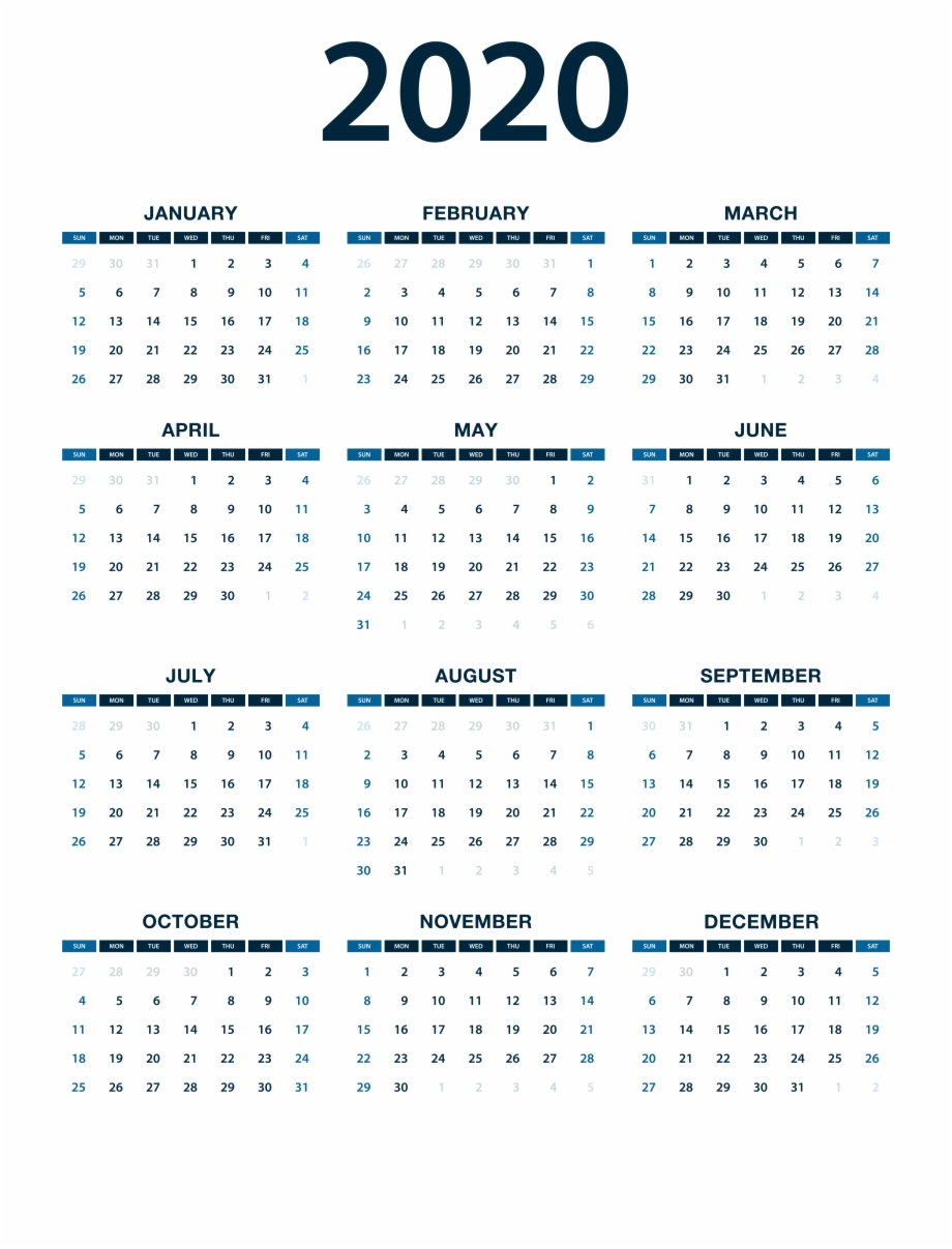 2020 Calendar Png Photo Free Png Images & Clipart Download #1126389