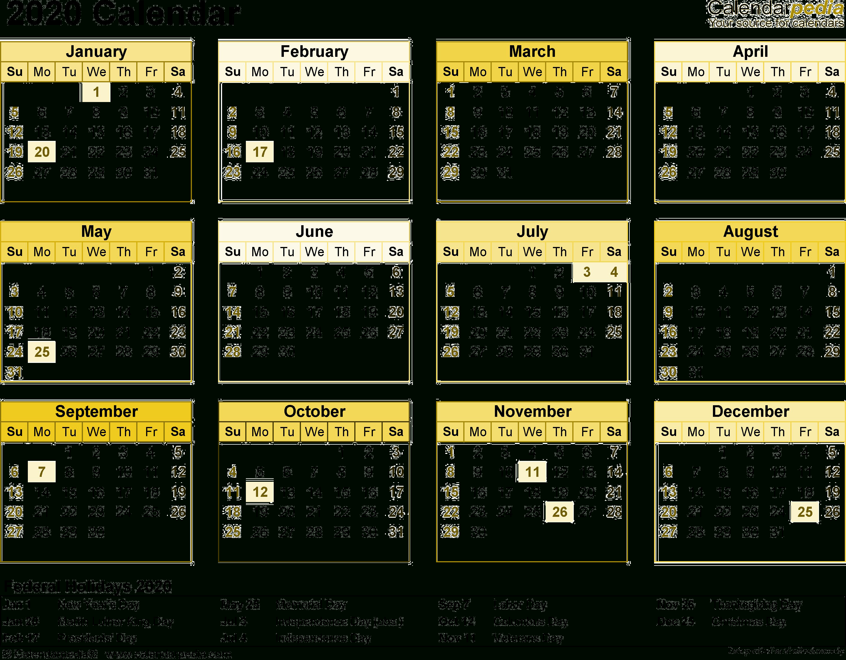 2020 Calendar Png Transparent Images
