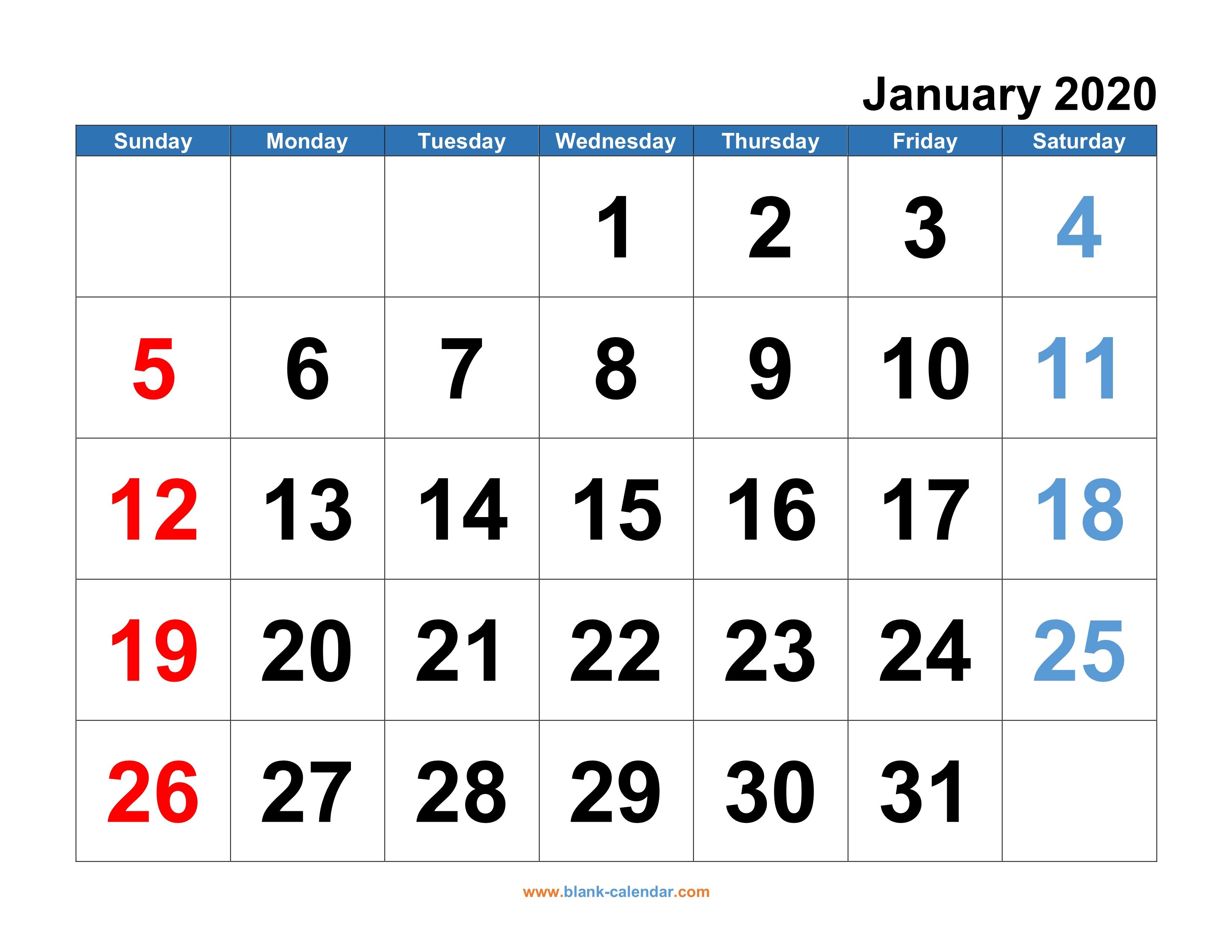 2020 Calendar Psd