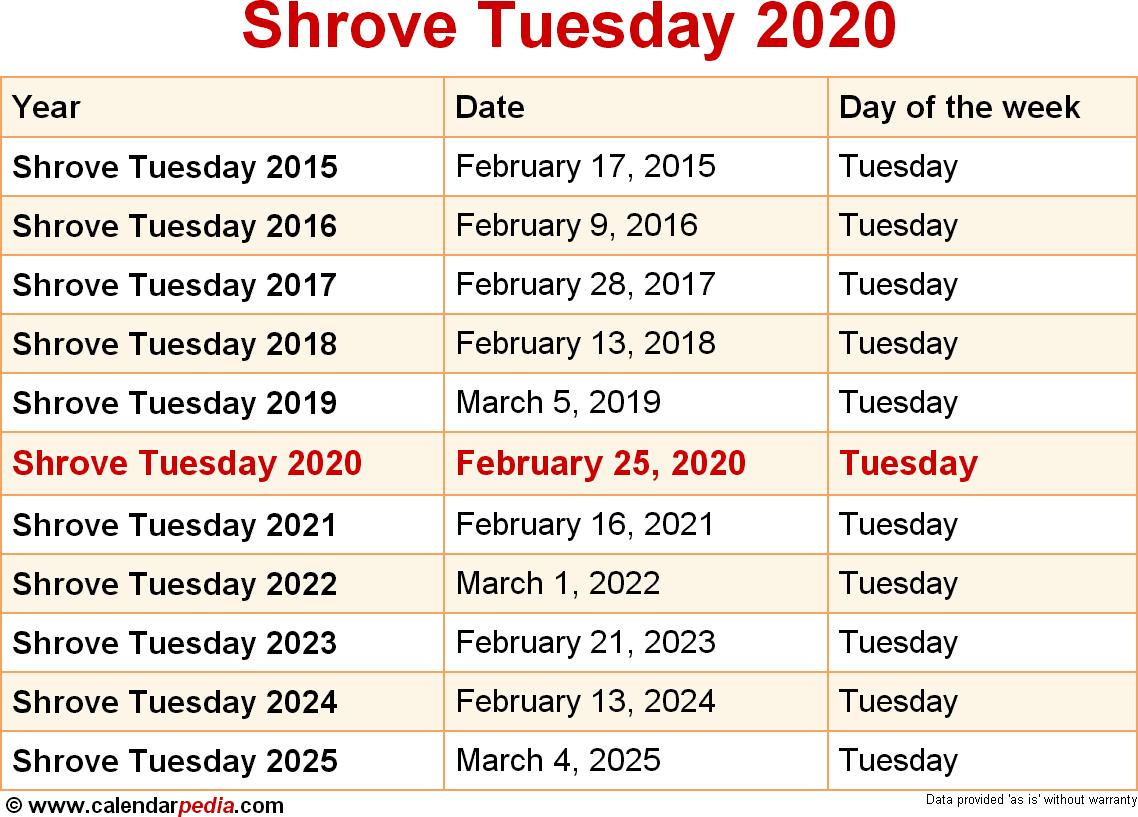 2020 Calendar Repeat