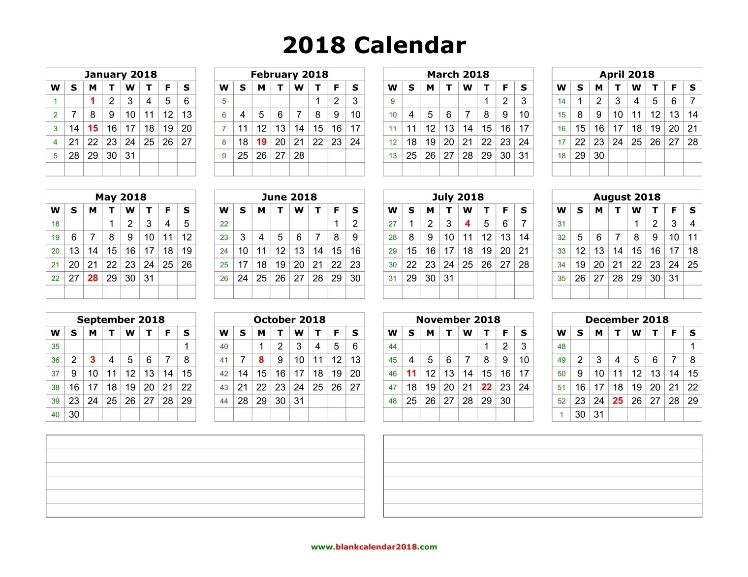 2020 Calendar Template Calendarlabs.com