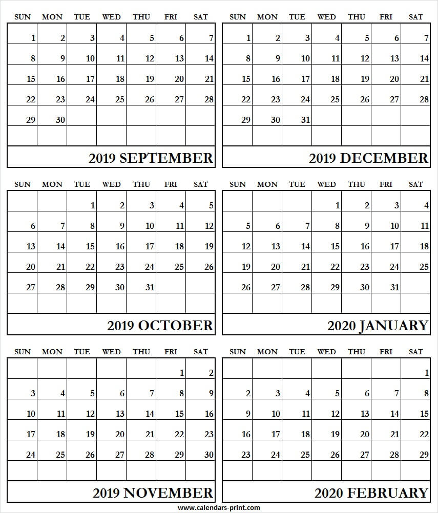 2020 Calendar With Lines