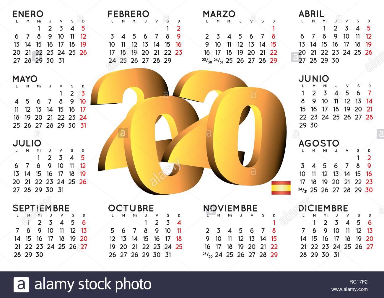 Calendario 2020 Gratis Con Foto.Calendario D 2020 Calendar Printable Free