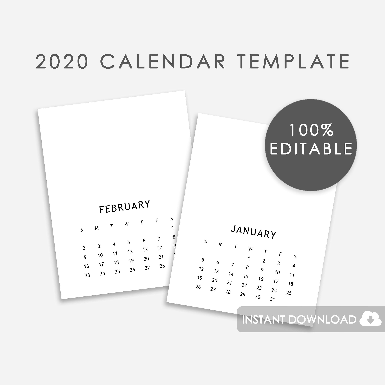 2020 Eq Calendar