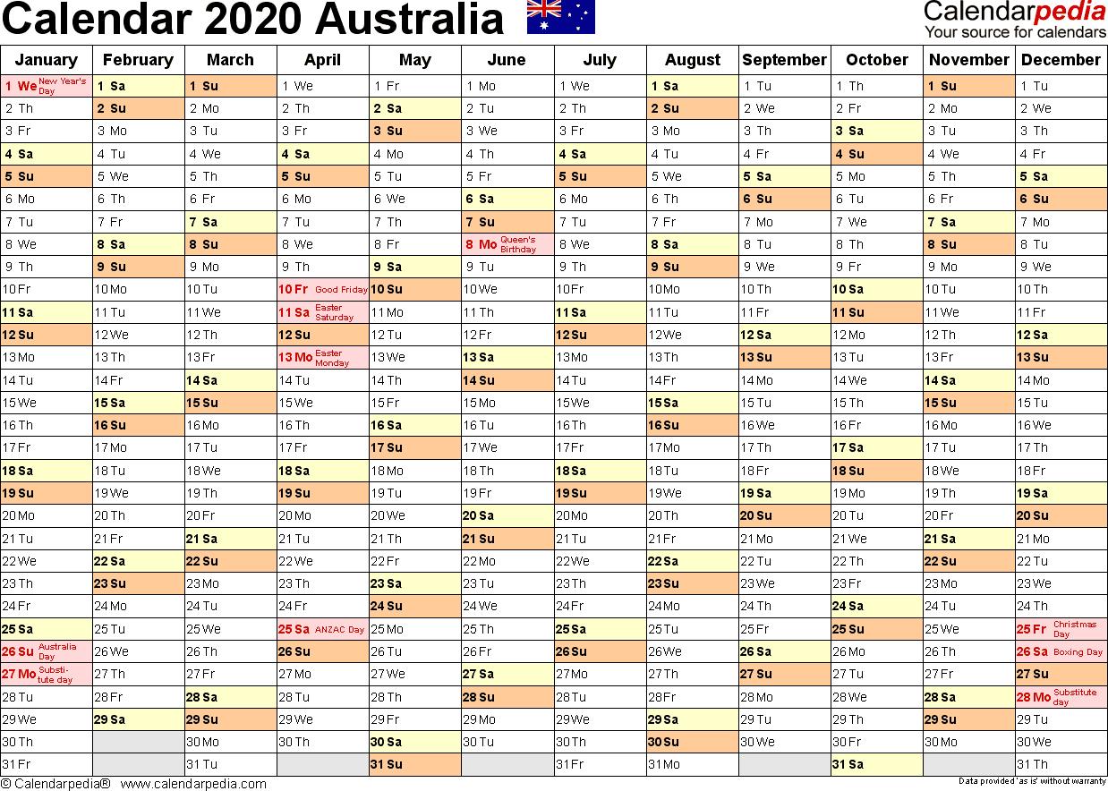 2020 Fiscal Year Calendar