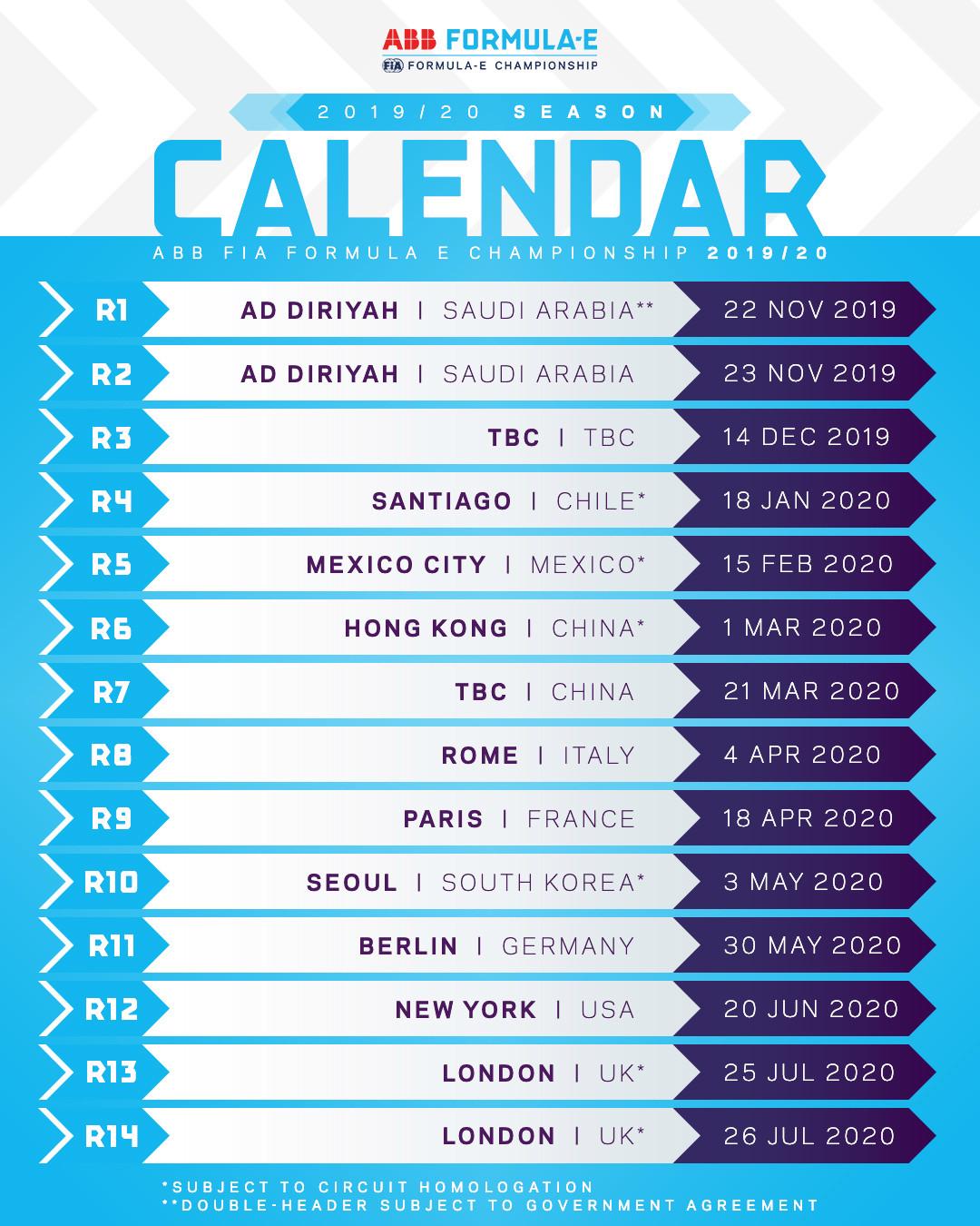 2020 Government Calendar