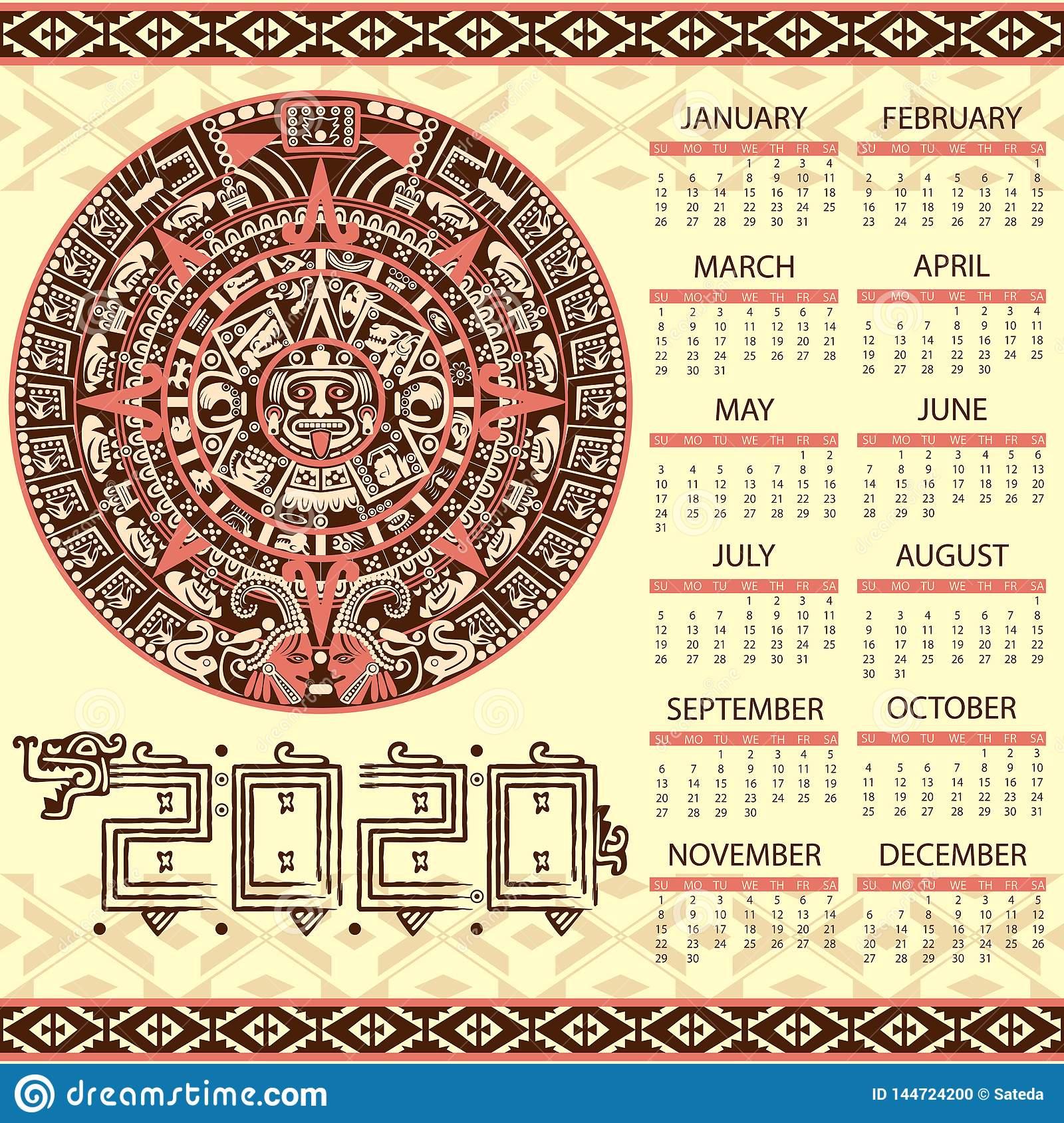 2020 Mayan Calendar