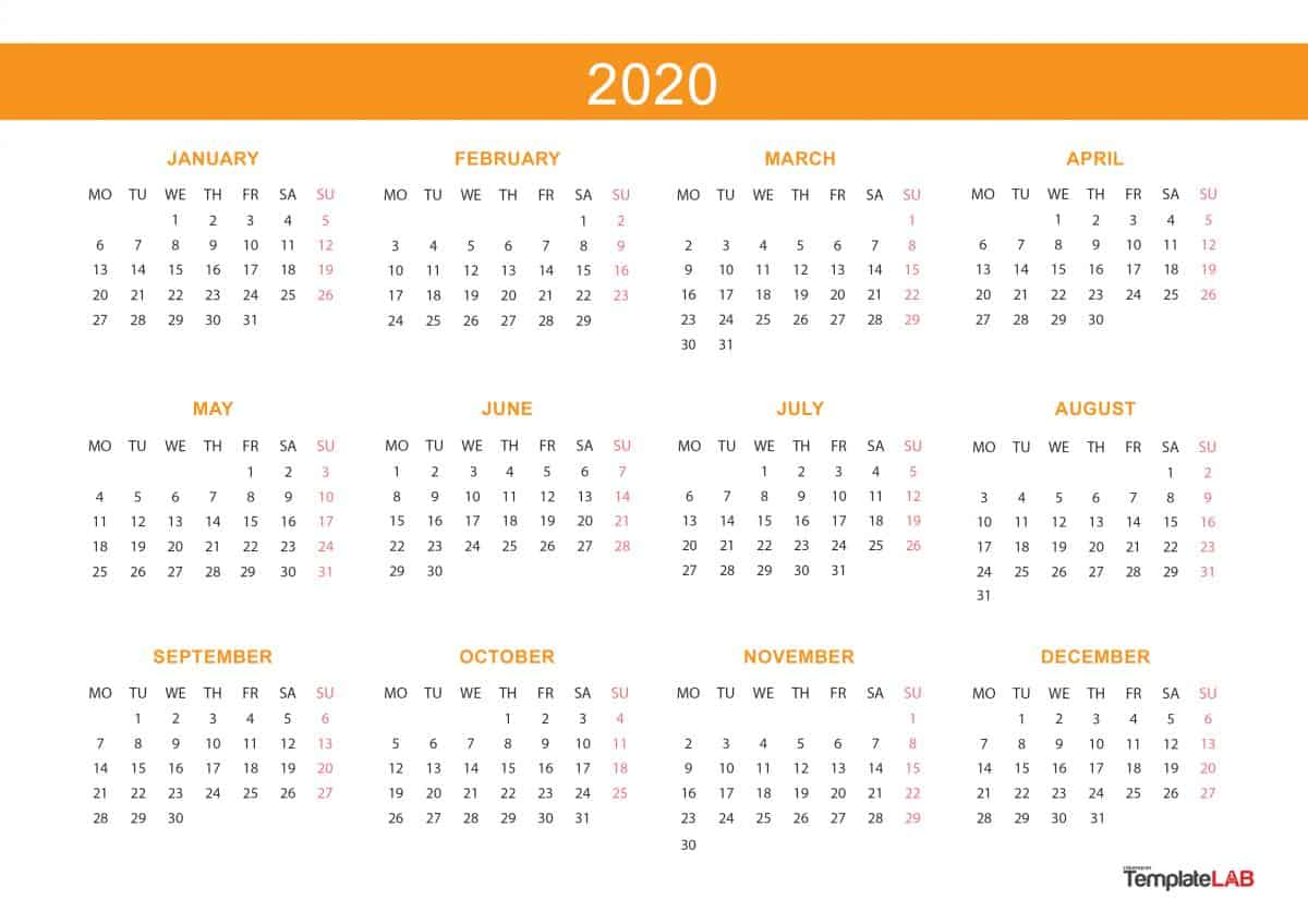 [%2020 Printable Calendars [Monthly, With Holidays, Yearly] ᐅ|2020 Annual Calendar|2020 Annual Calendar%]