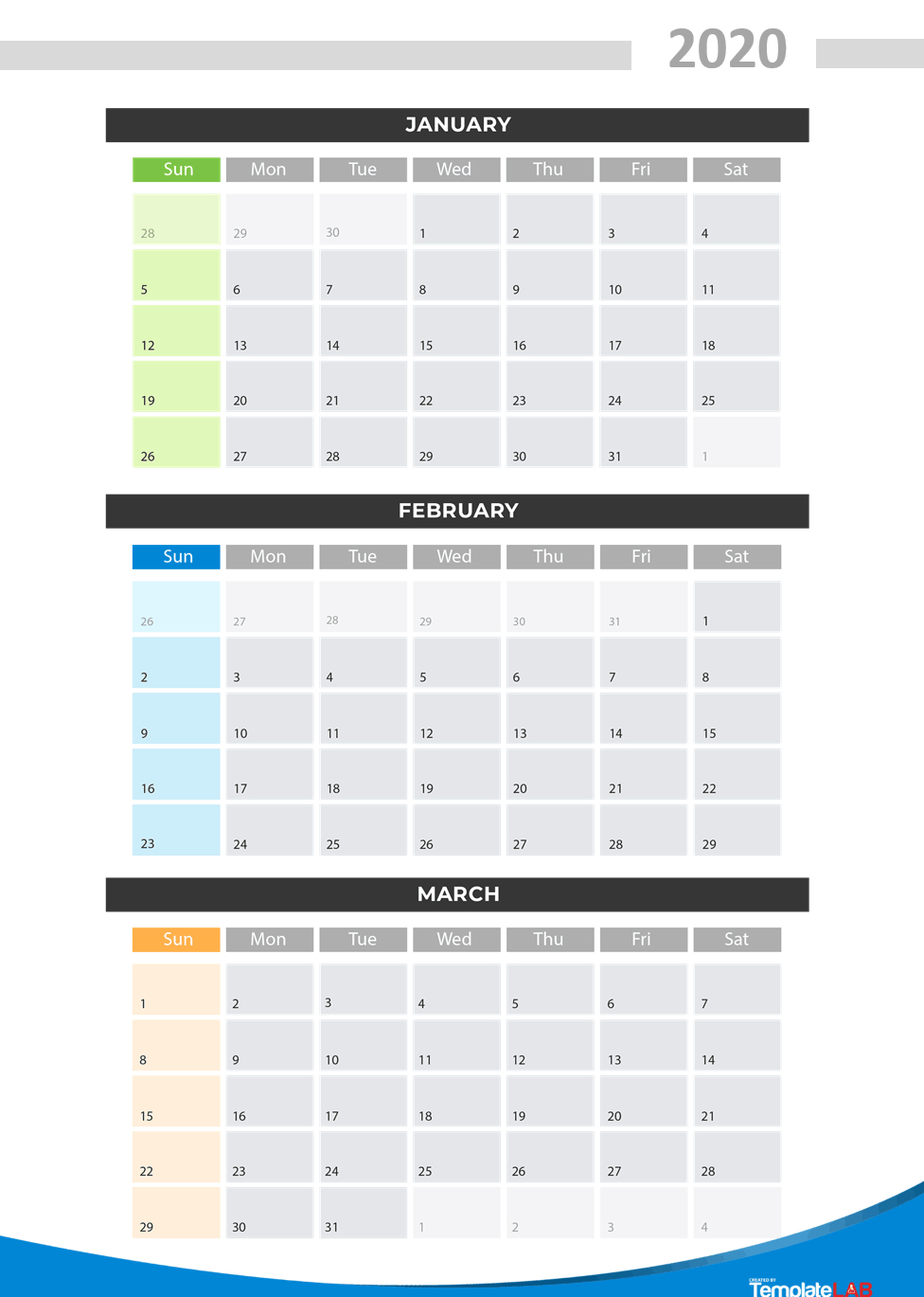[%2020 Printable Calendars [Monthly, With Holidays, Yearly] ᐅ|Blank Quarterly Calendar Template|Blank Quarterly Calendar Template%]