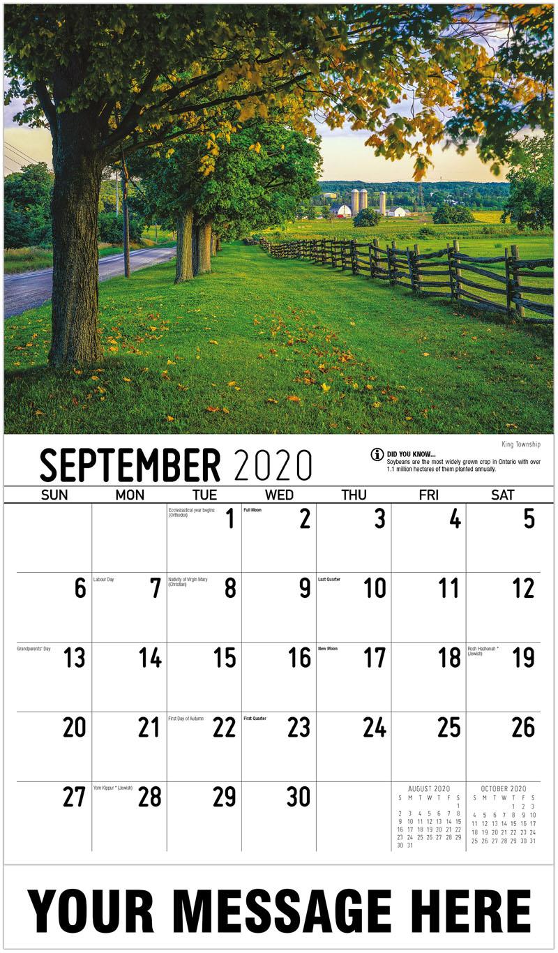 2020 Promotional Calendar