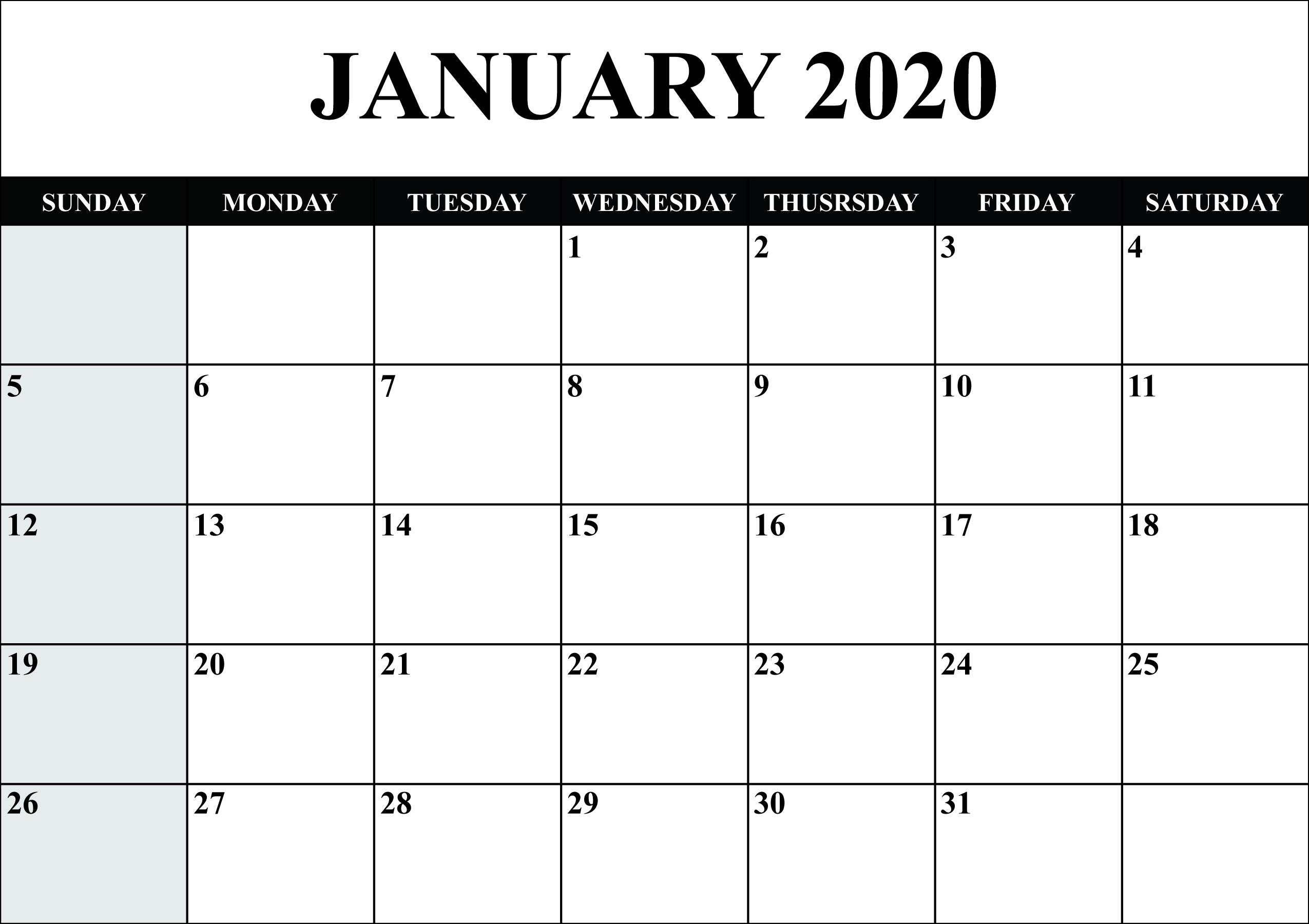 2020 Telugu Calendar January