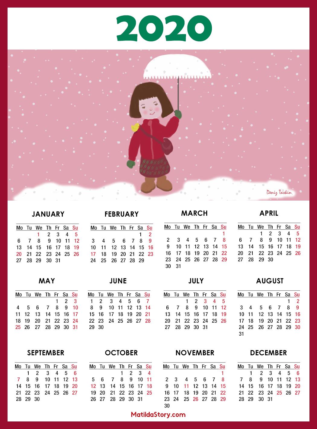 2020 U.s. Calendar