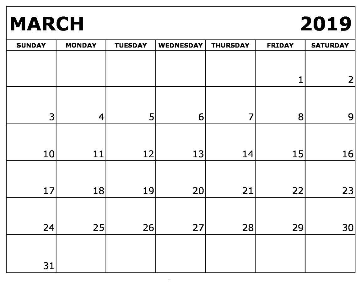 250+ March 2019 Calendars