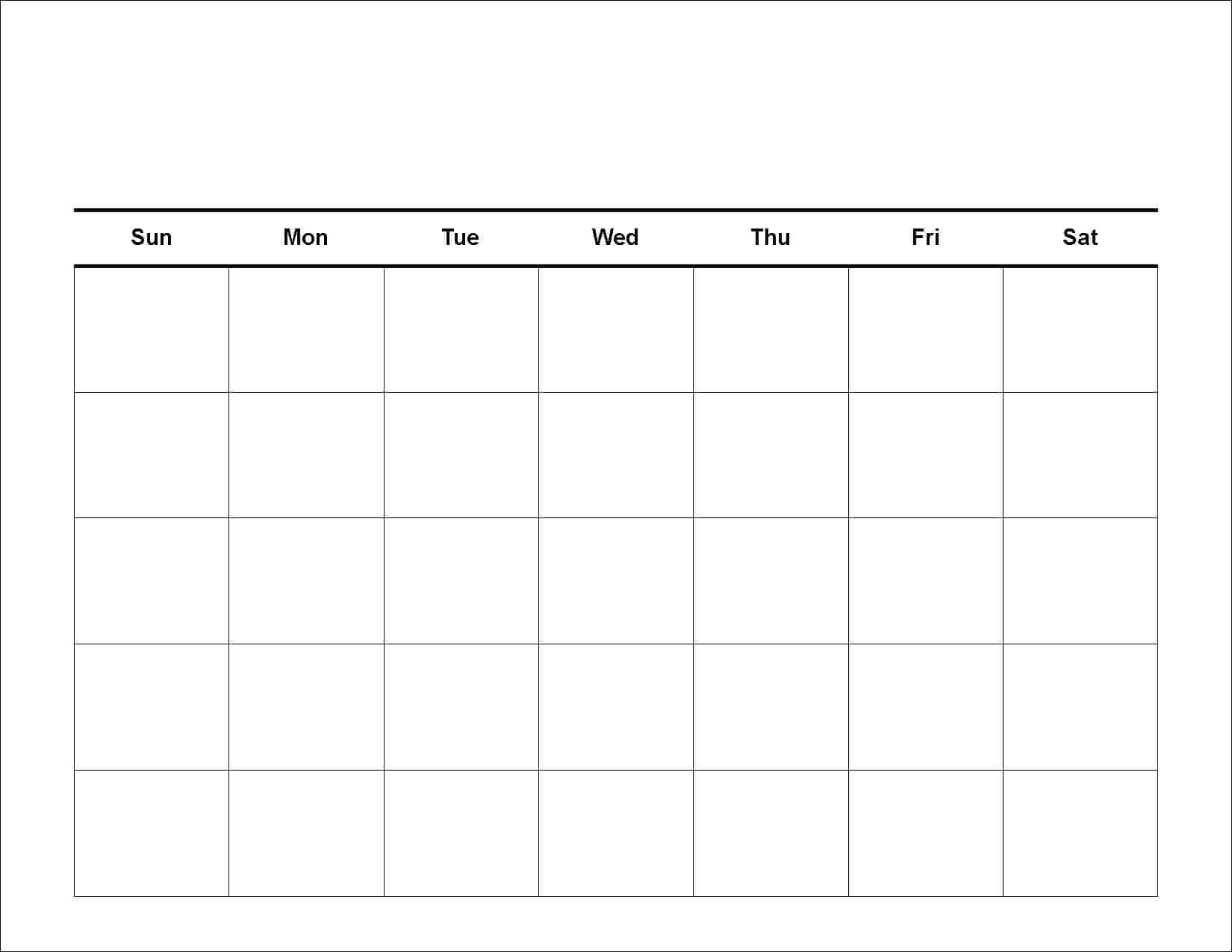 30 Day Blank Calendar Printable - Agadi.ifreezer.co