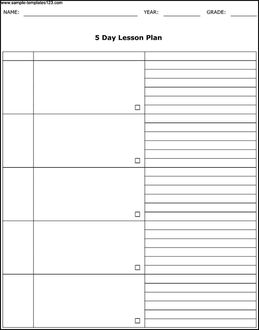 5 Week Calendar Template – Get Your Calendar Printable
