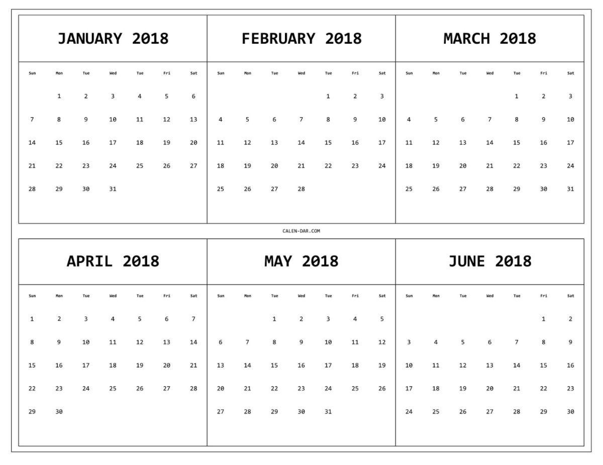 6 Monthly Calendar – Calendar Printable Week