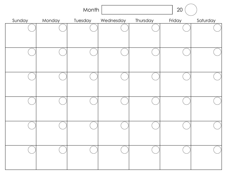 6 Week Blank Calendar Printable