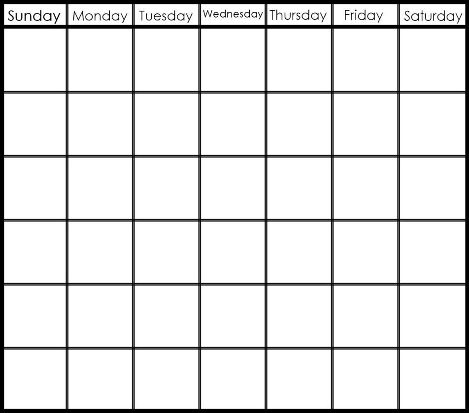 6 Week Blank Calendar Template – Get Your Calendar Printable