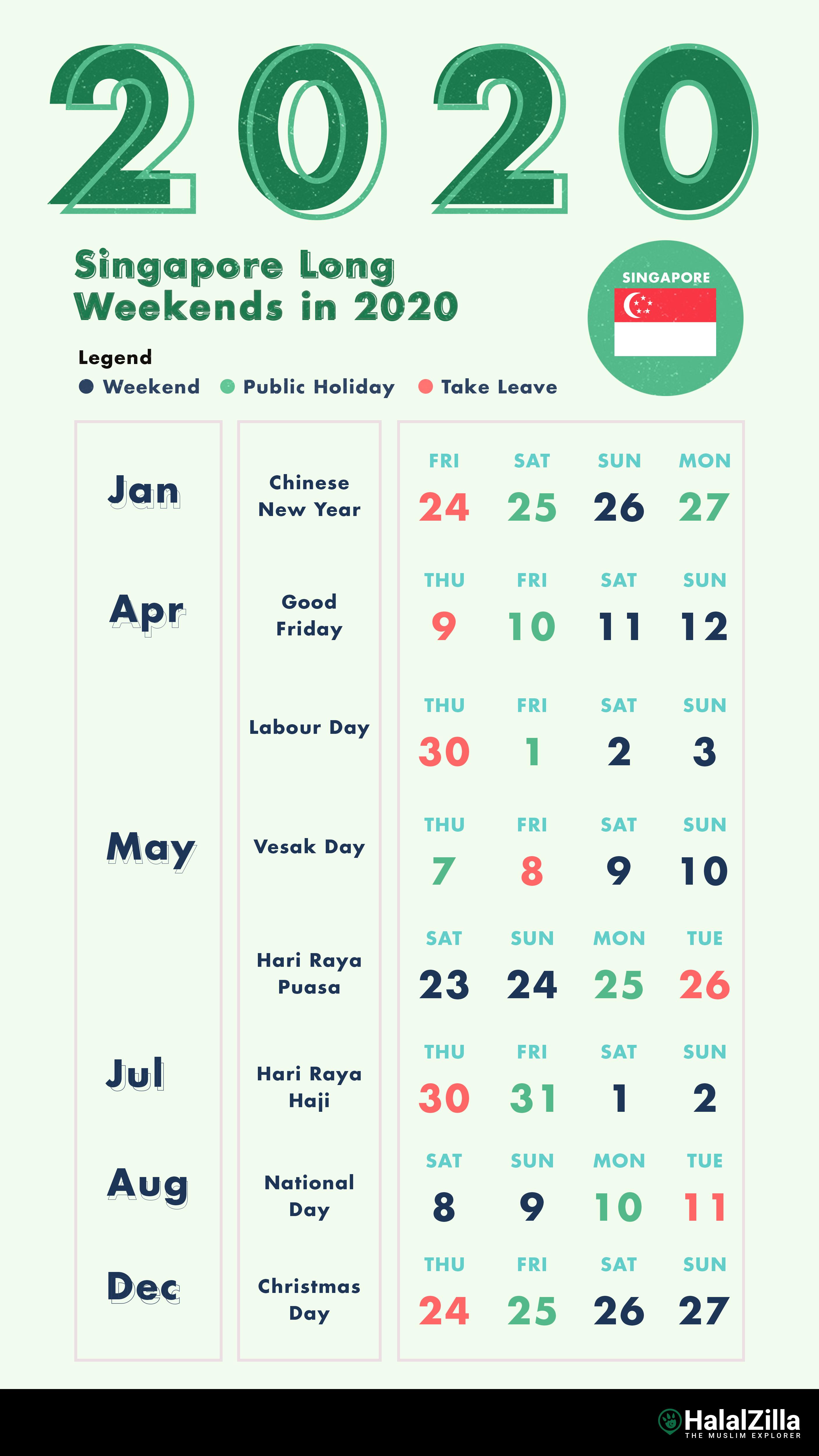 8 Long Weekends In Singapore In 2020 - Halalzilla