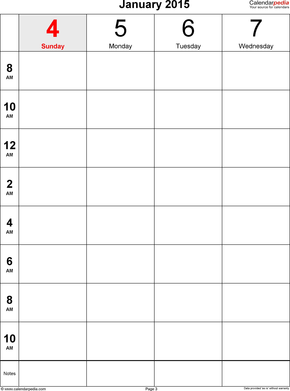 8 X 8 Blank Calendar