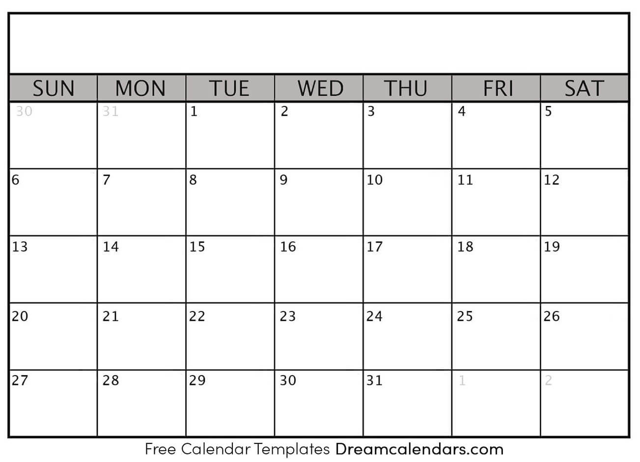 A Blank Calendar