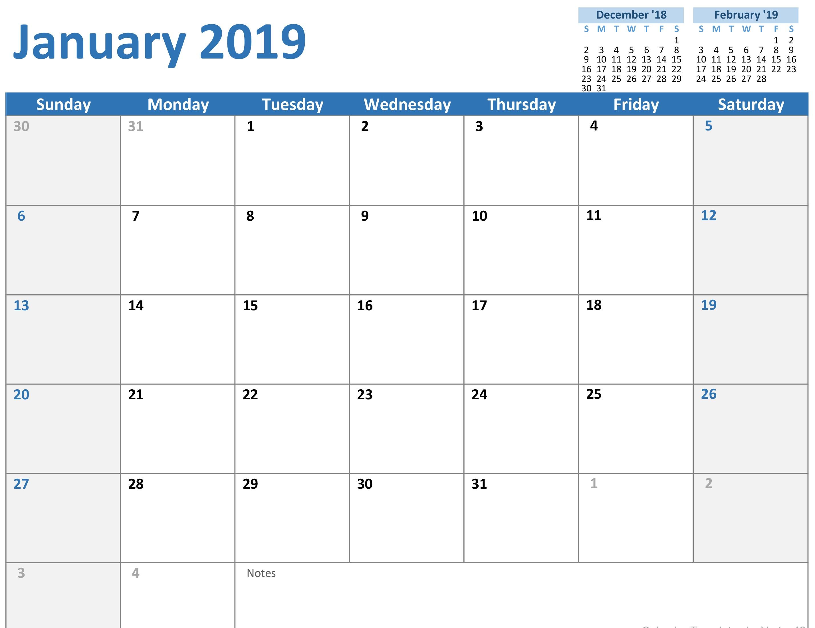 Any Year Custom Calendar