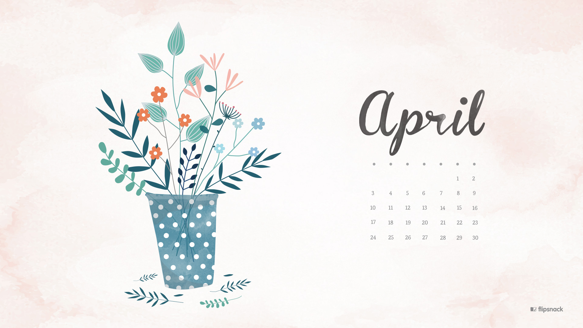 April 2016 Free Calendar Wallpaper – Desktop Background