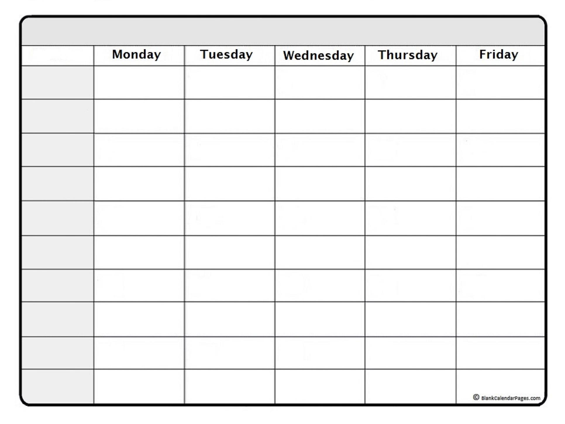 August 2019 Weekly Calendar Template