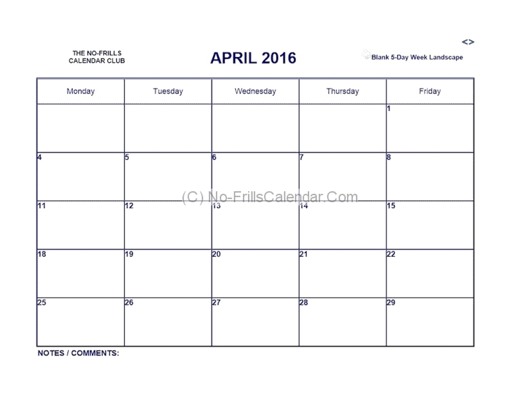 Awesome 21 Sample 5 Day Calendar Template Free