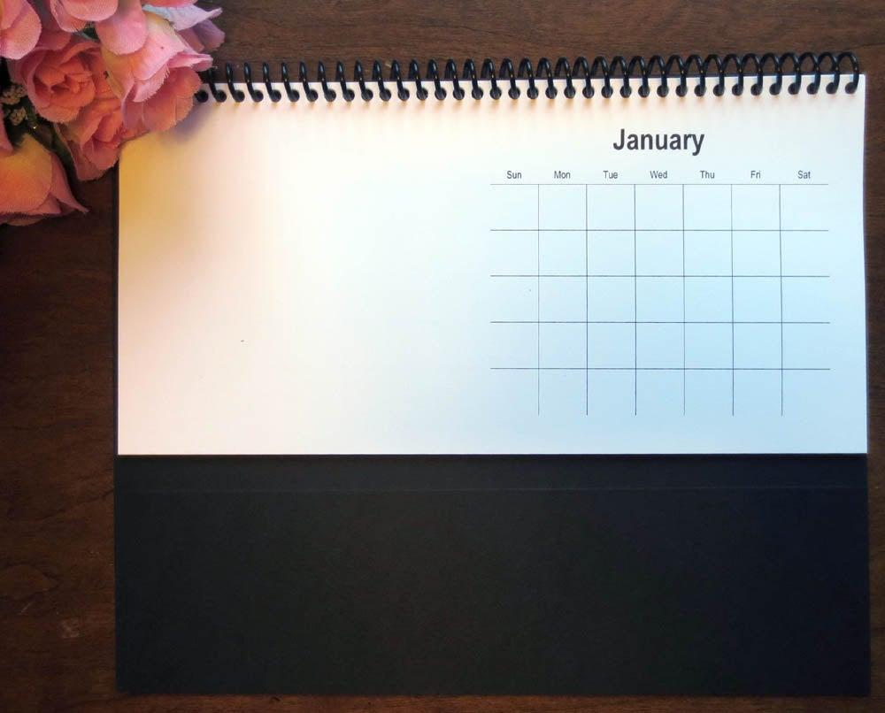 Blank 12 Page Perpetual Desk Calendar 10X5 Diy