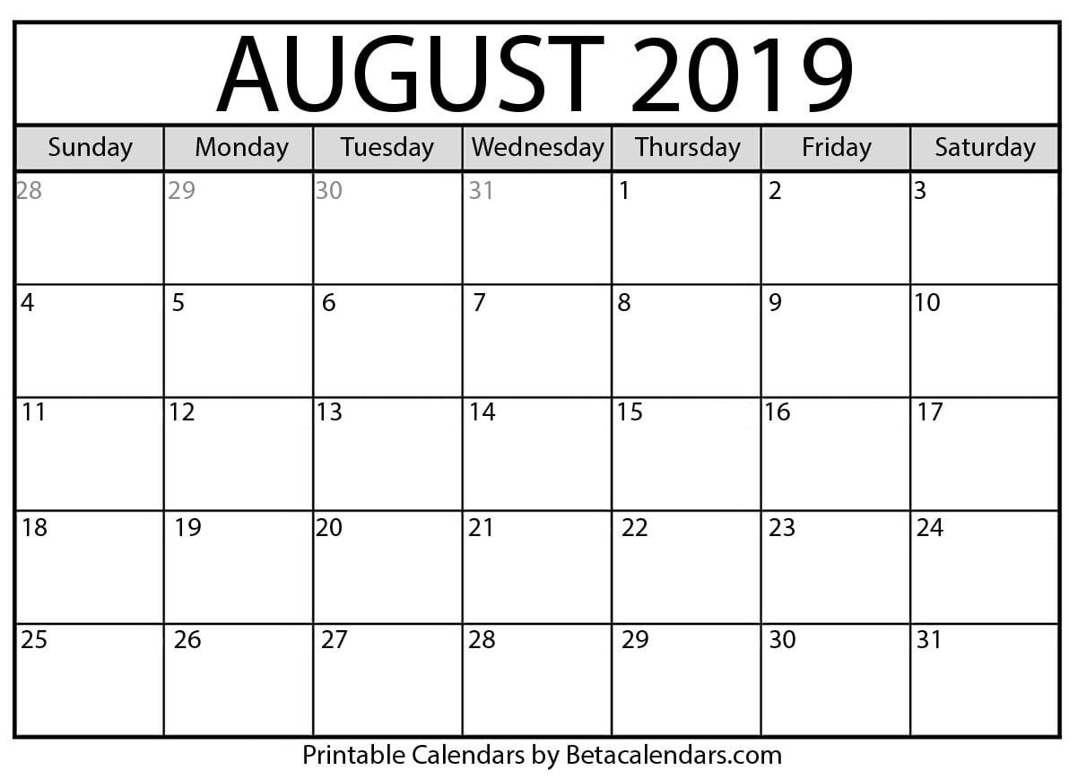 Blank 30 Calendar