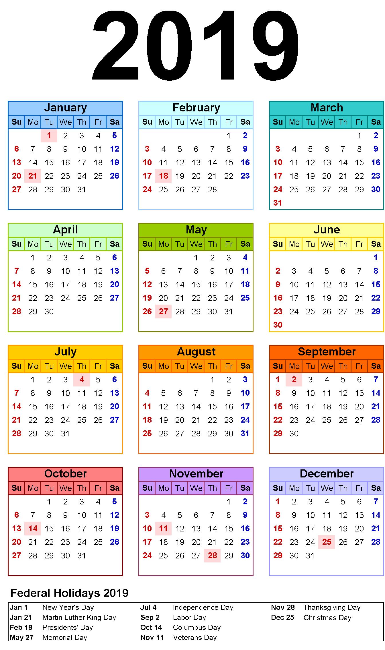 Blank Calendar 12 Months