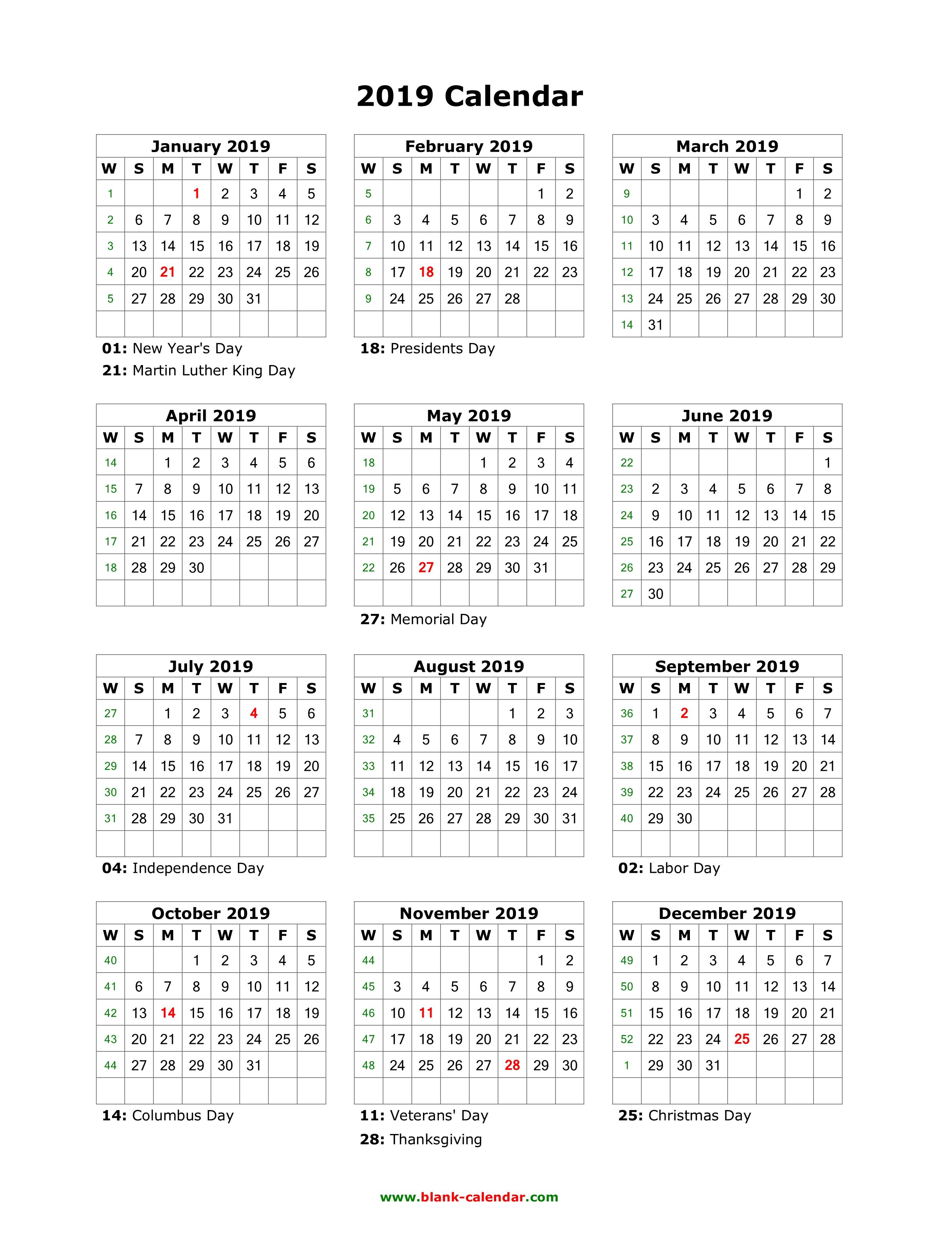 Blank Calendar 17-18
