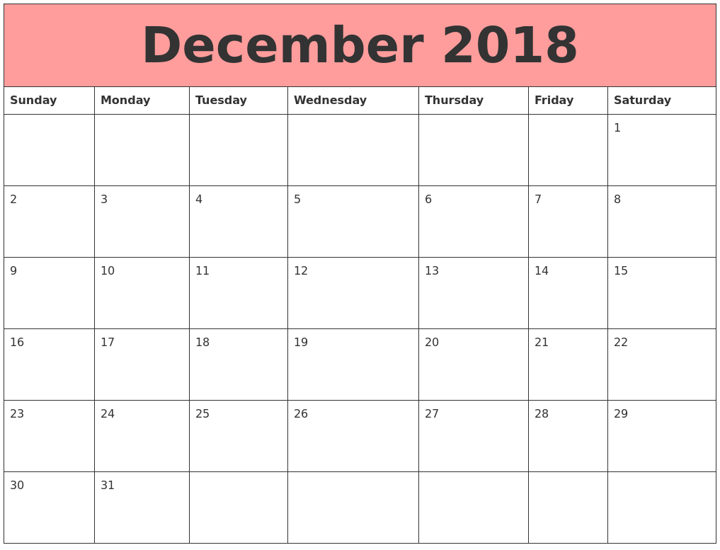 Blank Calendar Date Range