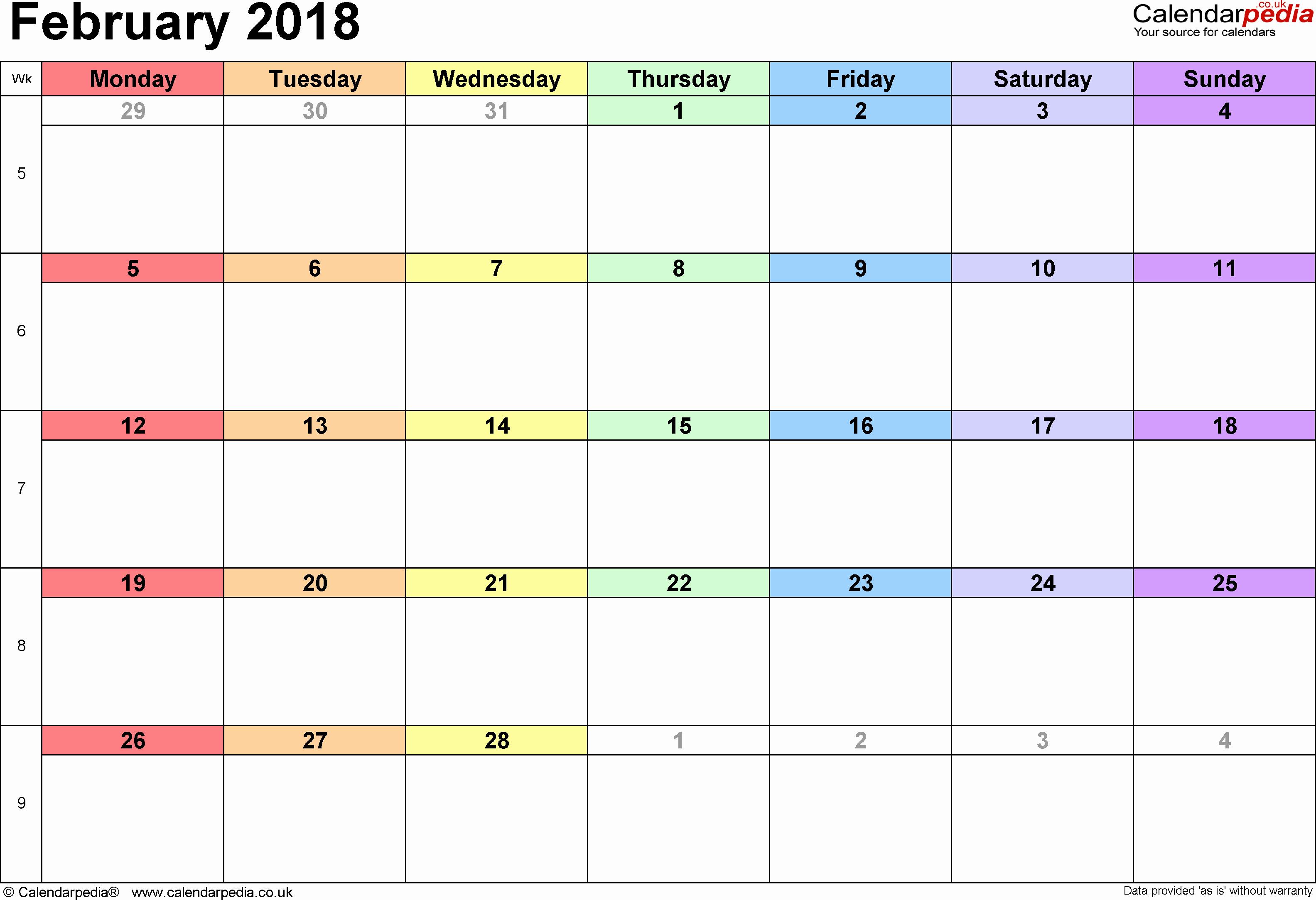 Blank Calendar Design